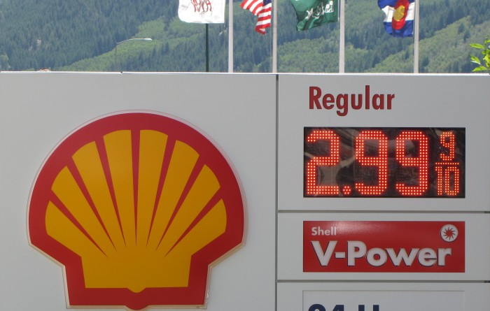 Shell Monument LED Gas Price Sign