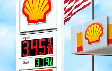 Shell Pylon LED Gas Price Signs