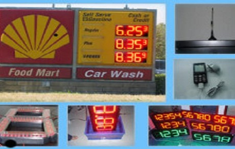 Shell Monument LED Price Sign